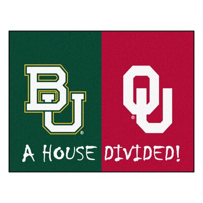 NCAA House Divided: Baylor / Oklahoma House Divided Mat 16218