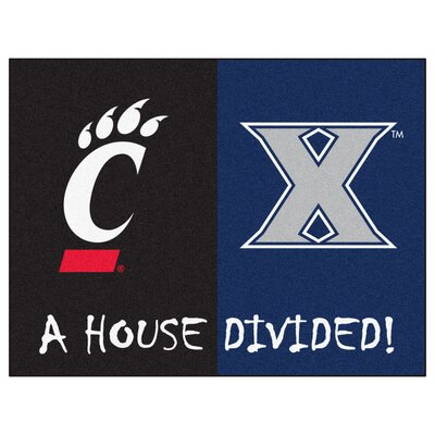 NCAA House Divided: Xavier / Cincinnati House Divided Mat