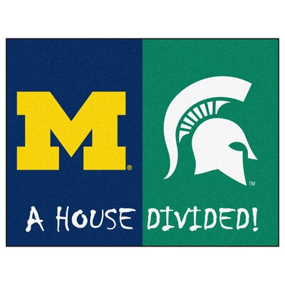 NCAA House Divided: Michigan / Michigan State House Divided Mat