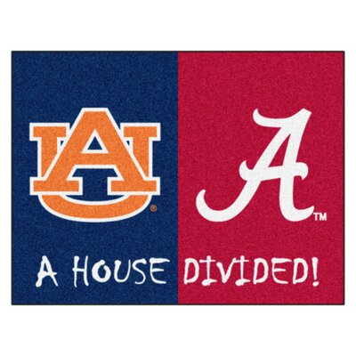 NCAA House Divided: Alabama - Auburn House Divided Mat
