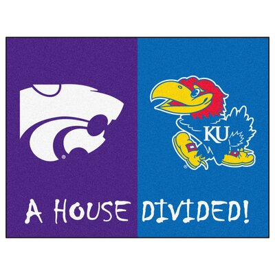 NCAA House Divided: Kansas / Kansas State House Divided Mat
