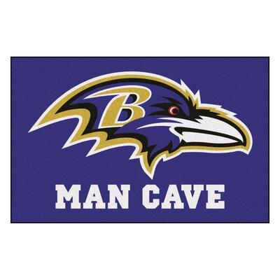 NFL - Baltimore Ravens Man Cave Starter Rug Size: 17 x 26