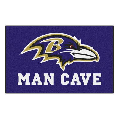 NFL - Baltimore Ravens Man Cave Indoor/Outdoor Area Rug Rug Size: 5 x 8