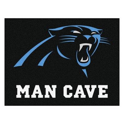 NFL - Carolina Panthers Man Cave Starter Rug Size: 210 x 37