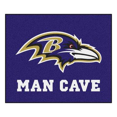 NFL - Baltimore Ravens Man Cave Indoor/Outdoor Area Rug Rug Size: 5 x 6
