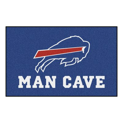 NFL - Buffalo Bills Man Cave Indoor/Outdoor Area Rug Rug Size: 5 x 8