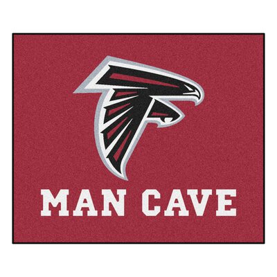 NFL - Atlanta Falcons Man Cave Indoor/Outdoor Area Rug Rug Size: 5 x 6