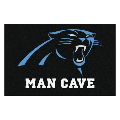 NFL - Carolina Panthers Man Cave Starter Rug Size: 17 x 26