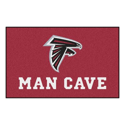NFL - Atlanta Falcons Man Cave Indoor/Outdoor Area Rug Rug Size: 5 x 8