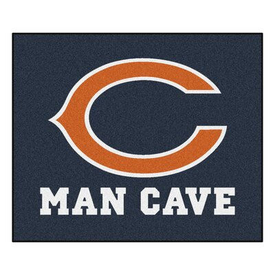 NFL - Chicago Bears Man Cave Indoor/Outdoor Area Rug Rug Size: 5 x 6