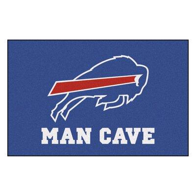 NFL - Buffalo Bills Man Cave Starter Rug Size: 17 x 26