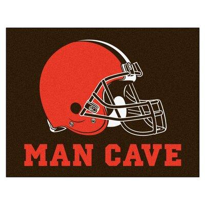 NFL - Cleveland Browns Man Cave Starter Rug Size: 210 x 37