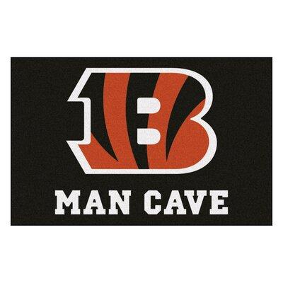 NFL - Cincinnati Bengals Man Cave Starter Rug Size: 1'7