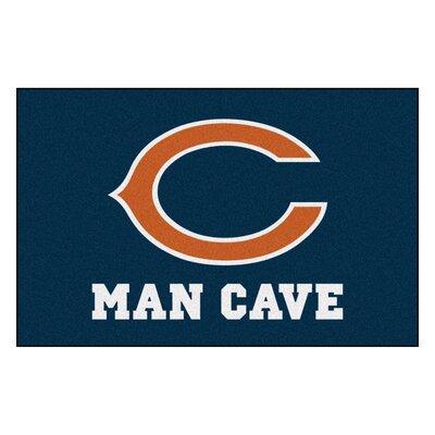 NFL - Chicago Bears Man Cave Starter Rug Size: 17 x 26