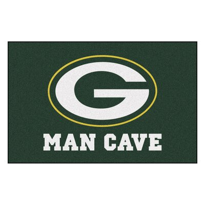 NFL - Green Bay Packers Man Cave Starter Rug Size: 17 x 26