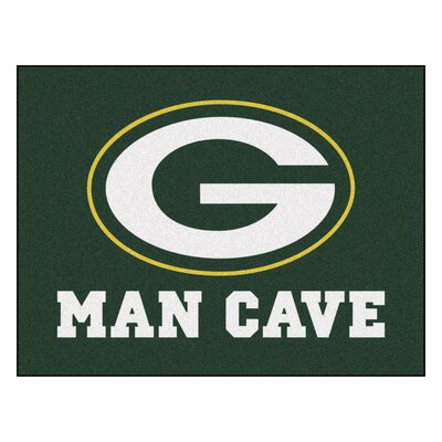 NFL - Green Bay Packers Man Cave Starter Rug Size: 210 x 37