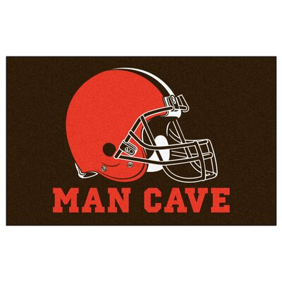 NFL - Cleveland Browns Man Cave Indoor/Outdoor Area Rug Rug Size: 5 x 8