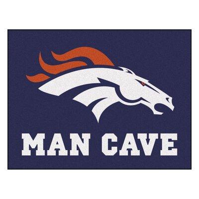NFL - Denver Broncos Man Cave Starter Rug Size: 210 x 37