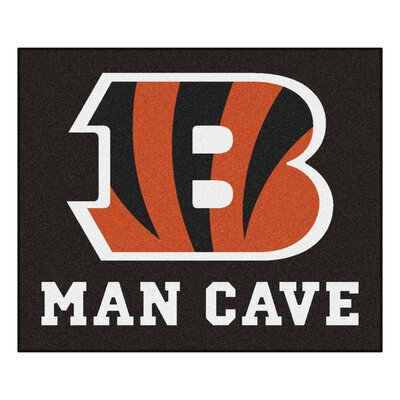 NFL - Cincinnati Bengals Man Cave Indoor/Outdoor Area Rug Rug Size: 5 x 6
