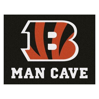 NFL - Cincinnati Bengals Man Cave Starter Rug Size: 2'10
