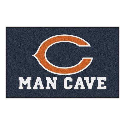 NFL - Chicago Bears Man Cave Indoor/Outdoor Area Rug Rug Size: 5 x 8
