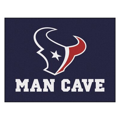 NFL - Houston Texans Man Cave Starter Rug Size: 210 x 37