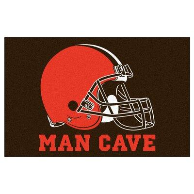 NFL - Cleveland Browns Man Cave Starter Rug Size: 17 x 26