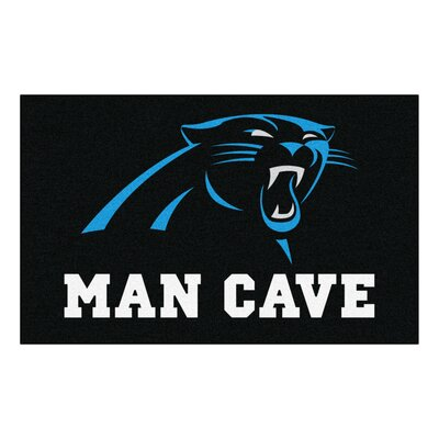 NFL - Carolina Panthers Man Cave Indoor/Outdoor Area Rug Rug Size: 5 x 8