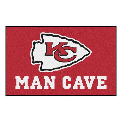 NFL - Kansas City Chiefs Man Cave Indoor/Outdoor Area Rug Rug Size: 5 x 8