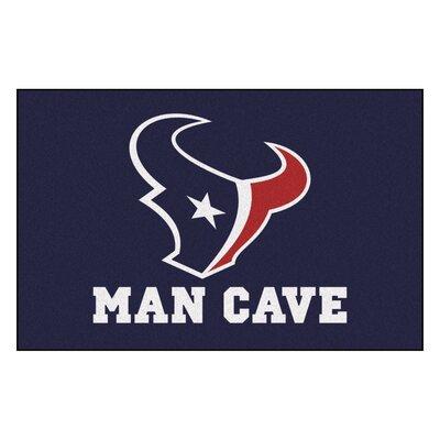NFL - Houston Texans Man Cave Starter Rug Size: 17 x 26
