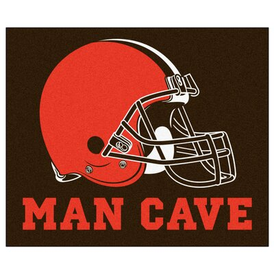 NFL - Cleveland Browns Man Cave Indoor/Outdoor Area Rug Rug Size: 5 x 6
