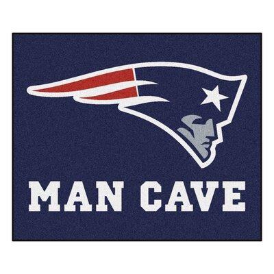 NFL - New England Patriots Man Cave Indoor/Outdoor Area Rug Rug Size: 5 x 6