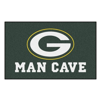 NFL - Green Bay Packers Man Cave Indoor/Outdoor Area Rug Rug Size: 5 x 8
