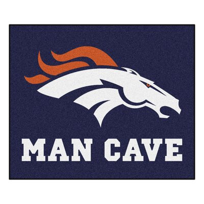 NFL - Denver Broncos Man Cave Indoor/Outdoor Area Rug Rug Size: 5 x 6