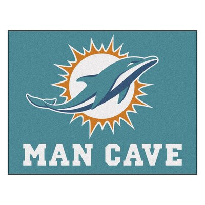 NFL - Miami Dolphins Man Cave Starter Rug Size: 210 x 37