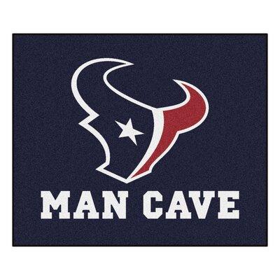 NFL - Houston Texans Man Cave Indoor/Outdoor Area Rug Rug Size: 5 x 6