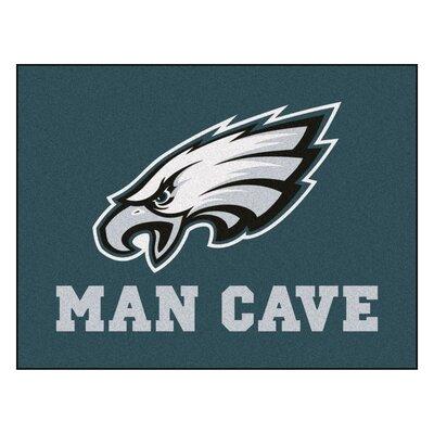 NFL - Philadelphia Eagles Man Cave Starter Rug Size: 210 x 37