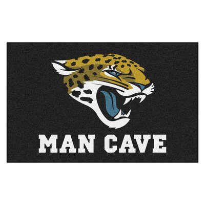 NFL - Jacksonville Jaguars Man Cave Indoor/Outdoor Area Rug Rug Size: 5 x 8