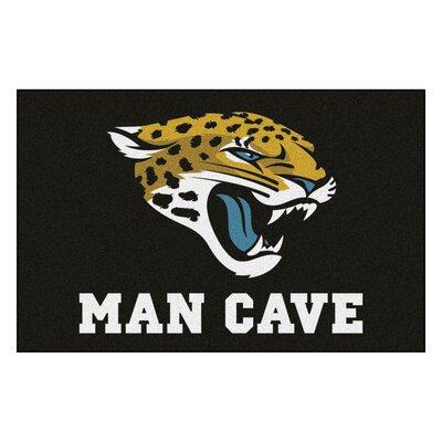 NFL - Jacksonville Jaguars Man Cave Starter Rug Size: 17 x 26