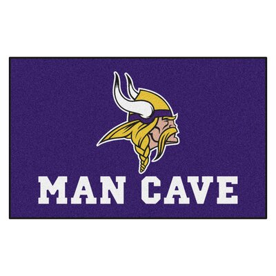 NFL - Minnesota Vikings Man Cave Indoor/Outdoor Area Rug Rug Size: 5 x 8