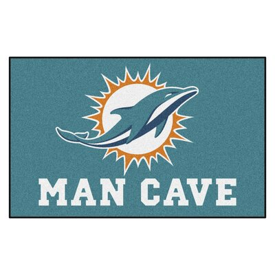 NFL - Miami Dolphins Man Cave Indoor/Outdoor Area Rug Rug Size: 5 x 8