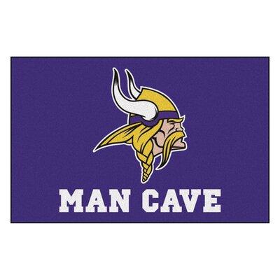 NFL - Minnesota Vikings Man Cave Starter Rug Size: 17 x 26