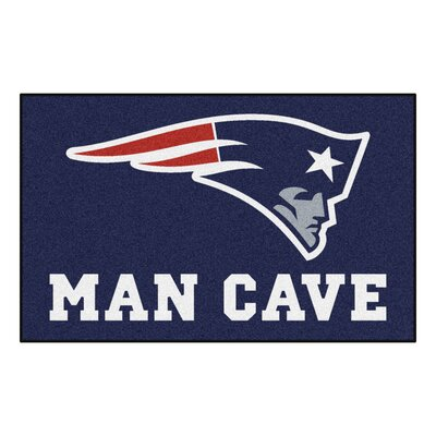 NFL - New England Patriots Man Cave Indoor/Outdoor Area Rug Rug Size: 5 x 8