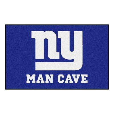 NFL - New York Giants Man Cave Indoor/Outdoor Area Rug Rug Size: 5 x 8