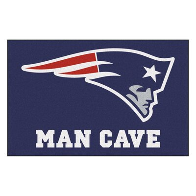 NFL - New England Patriots Man Cave Starter Rug Size: 17 x 26
