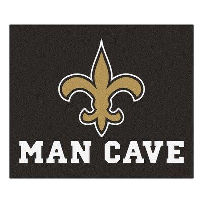 NFL - New Orleans Saints Man Cave Indoor/Outdoor Area Rug Rug Size: 5 x 6