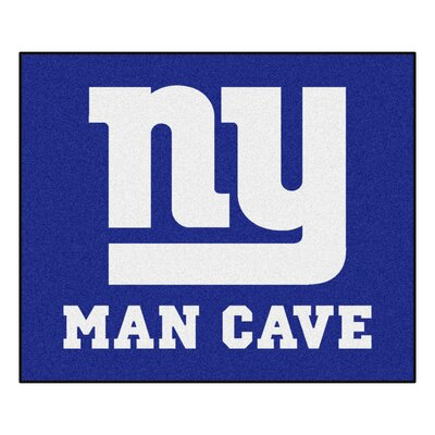 NFL - New York Giants Man Cave Indoor/Outdoor Area Rug Rug Size: 5 x 6