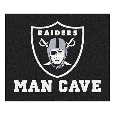 NFL - Oakland Raiders Man Cave Indoor/Outdoor Area Rug Rug Size: 5 x 6