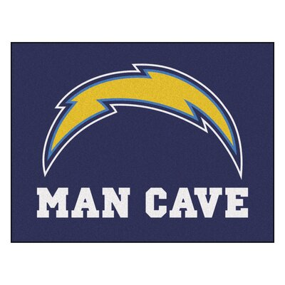 NFL - San Diego Chargers Man Cave Starter Rug Size: 210 x 37