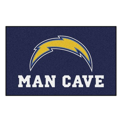 NFL - San Diego Chargers Man Cave Indoor/Outdoor Area Rug Rug Size: 5 x 8